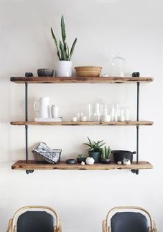 9 Courageous Hacks: Floating Shelf Over Couch Bookcases industrial floating shelves products.Floating Shelf Kitchen Diy floating shelf over couch bookcases.Floating Shelves Under Mounted Tv Fireplaces.. Industrial Style Furniture, Industrial Shelving, Industrial Pipe, Pipe Shelving, Modern Furniture, Furniture Design, Pipe Bookshelf, Urban Industrial, Rustic Shelves