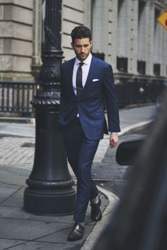 Man in Pink | Blue suit