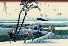 Xilogravura de Katsushika Hokusai.