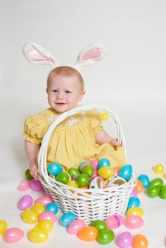 30 Easter basket ideas for babies & toddlers this is cute if only my child would sit still.