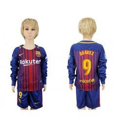Barcelona Jordi Alba Home Long Sleeves Kid Soccer Club Jersey Messi 10, Lionel Messi, Barcelona 2017, Jordi Alba, Kids Soccer, Nike Nfl, Neymar Jr, Nfl Jerseys, Youth