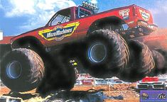 Monster truck pictures and information in a monster truck photo album which consists of over 850 full sized Monster truck Redneck Trucks, Old School, Monsters, Monster Trucks, Hobbies, Fantasy, Album, Cars, Classic