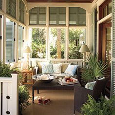 Beach-Themed Outdoor Living | Outdoor Living Room | SouthernLiving.com