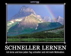 Motivationsposter - Schneller lernen und viele andere Aha-Plakate stehen auf www.lerntipp.com als Download zur Verfügung.