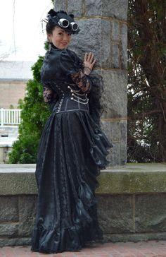 Imperial Belladonna Custom Made Steampunk Costume by auralynne