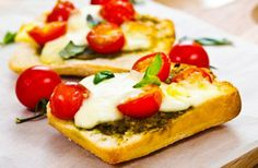 """Mozzarella and tomato toasties Mozzarella is a gloriously white fresh (unripened) cheese traditionally made from water buffalo's milk (Mozzarella di Bufala) in and around Naples in Italy. It melts well, and has a unique """"stretchin"""