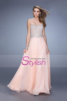 2015 Prom Dresses Sweetheart A Line Chiffon Floor Length With Applique