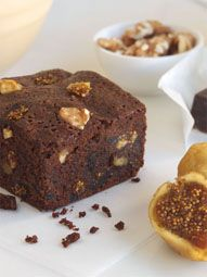 Fudgy Fig-Nut Brownies | Valley Fig Growers. Easy to veganize.