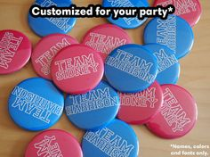 Customized Gender Reveal Party Favors Team Boy by sweetgumparty