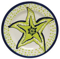 Caffco International Dana Wittmann Collection Ceramic Plates, Set of in Diameter, Starfish Ceramic Plates, Starfish, House Warming, Ceramics, Amazon, Gifts, Pottery Plates, Ceramica, Pottery