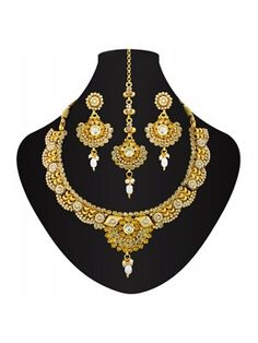 Get affordable price necklace set for bride in a best online shopping store to save your precious time as well as money. Buy Bridal Necklace Set Online >> @ HIGH5STORE.COM Check out : http://www.high5store.com/bridal-necklace-set