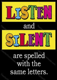 Listen and Silent. Same letters.