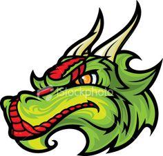 Dragon Head Royalty Free Stock Vector Art Illustration
