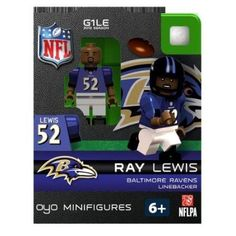 Ray Lewis NFL Oyo Mini Figure Lego Compatible Baltimore Ravens
