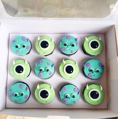 Monster University Cupcakes, Monsters Inc, Cookies, Desserts, Crack Crackers, Tailgate Desserts, Deserts, Biscuits, Postres
