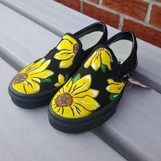 1ae791c34f58b6 Custom Sunflower Vans Shoes Hand Painted