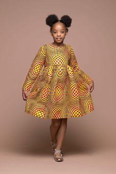 Mona Kid's Dress | African Clothing For Children | Grass-fields