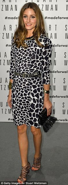 Party time! The following day Olivia arrived in Milan to attend the opening of Stuart Weitzman flagship store as a part of Milan Fashion Wee...