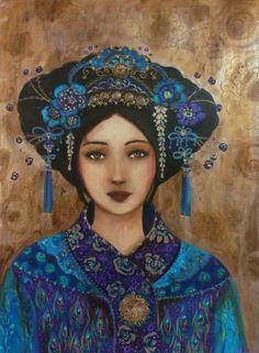 Girl Face Drawing, Face Art, Art Geisha, Art Rupestre, L'art Du Portrait, Art Visage, Blood Art, Art Original, Leaf Art