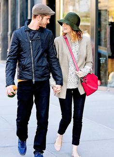 Andrew Garfield and Emma Stone were seen out and about in NYC May 18th