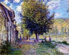 Banks of the Seine at Lavacourt - Claude Monet