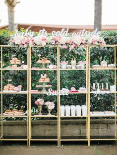 Kind of obsessed with this dessert bar: http://www.stylemepretty.com/2015/02/11/romantic-pink-on-pink-california-wedding/ | Photography: Honey Honey - http://www.hoooney.com/