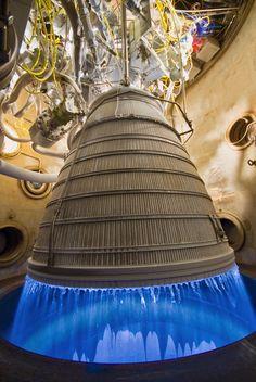 RL-10 at full thrust #rocket #engine #nozzle