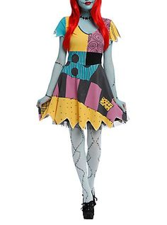 The Nightmare Before Christmas Sally Costume Dress,