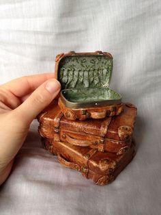 dollhouse miniature vintage suitcase altoids box - Google Search