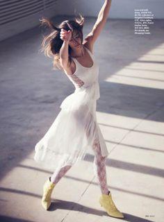 visual optimism; fashion editorials, shows, campaigns & more!: sweet surrender: lily aldridge by david bellemere for us elle april 2014