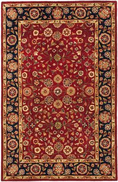 With rich, luscious detailing and a vibrant feel, Safavieh's Heritage collection brings life to any space. Hand-tufted of pure wool with strong cotton backing, these traditionally beautiful rugs can withstand even the most highly traveled areas of your home.