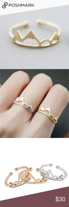 Trendy Mountain Ring!   New!  Color: Rose Gold! Jewelry Rings