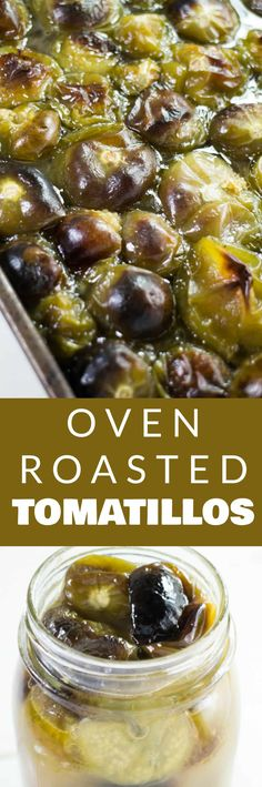 Easy, Oven Roasted Tomatillos Recipe This Tomatillo Sauce Is Delicious And Can Be Used As A Soup Stock, Chicken Tacos Salsa, Served Over Rice And So Much More This Recipe Is Canning And Freezing Friendly, Perfect For Preserving An Overabundance Of Garden Tomatillo Recipes, Tomatillo Sauce, Roasted Tomatillo, Healthy Vegetable Recipes, Healthy Vegetables, Veggies, Roasted Vegetables, Side Dish Recipes, Dinner Recipes