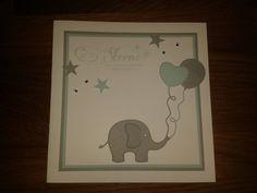 Babykarte Elefant blau
