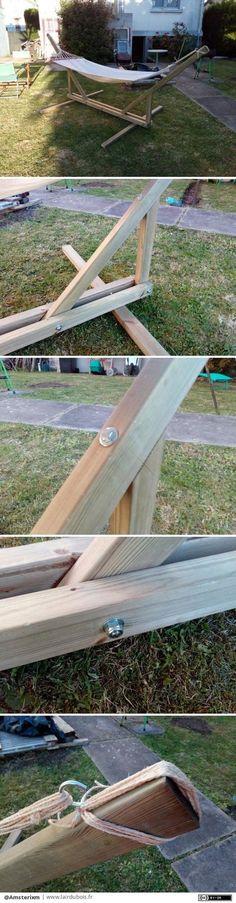 Comment fabriquer son support à hamac en bois Pallet furniture and