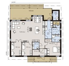 House Plans, Floor Plans, Cottage, House Design, Flooring, How To Plan, Living Room, Architecture, Flow