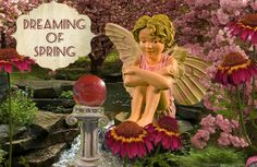 Dreaming of spring in the fairy garden.