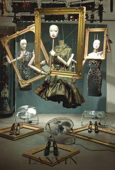 Lanvin store window idea #retaildetails: