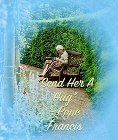 Loneliness is never far away for many elderly. Pope Francis has reminded us not to forget them. Pope Francis, Loneliness, Far Away, Hugs, Forget, Movie Posters, Image, Big Hugs, Film Poster