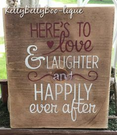 "8"" x 9"" wooden sign Sweet sentiment that's perfect for weddings and anniversaries. Consider personalizing with names and dates. Stained wood with white and bur"