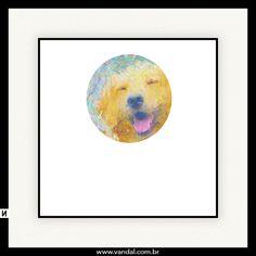 golden, cachorro, dog, pintura, cores, cão