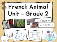 French animal unit - grade 2 Grade 2 Science, Core French, French Resources, Forms Of Communication, Activity Sheets, Information Technology, Vocabulary, Literacy, Classroom