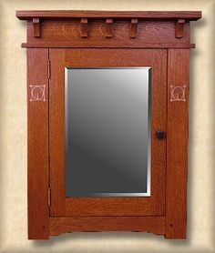 Burbank Surface Mount Medicine Cabinet in the Arts & Crafts/Mission Style ~ BEAUTIFUL, BUT EXPENSIVE