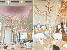 Fall decor items at a Swan-e-set wedding