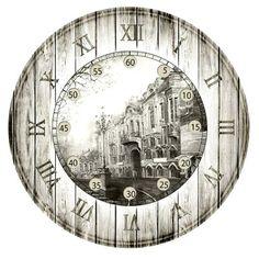 AMARNA ARTESANATO E IMAGENS Decoupage Vintage, Decoupage Paper, Shabby Vintage, Vintage Ephemera, Clock Art, Diy Clock, Vintage Wall Art, Vintage Walls, Eclectic Clocks
