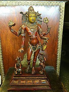 "Bhikshasthana Shiva Brass Statue Indian Art Yoga Decor Sculpture 12"" Mogul Interior http://www.amazon.com/dp/B00WBF7OYC/ref=cm_sw_r_pi_dp_DNjnvb1M9141K"