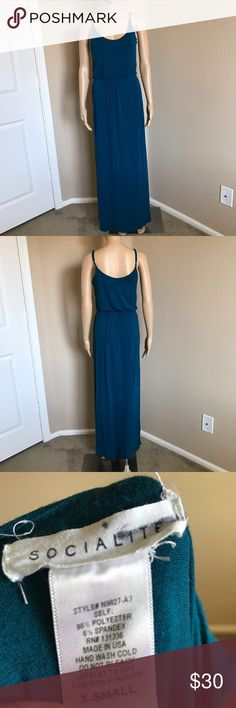 Socialite Maxi Dress Super cute and perfect for summer! There are two stains so please view last two photos. Socialite Dresses Maxi