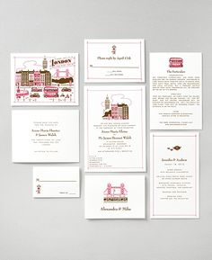 London Theme Wedding Invites