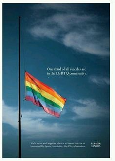 Did you know that 1/3 of all suicides are in the LGBTQ community?