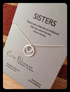 Schwestern Halskette. Schwester Schmuck. Inspirierende Geschenke